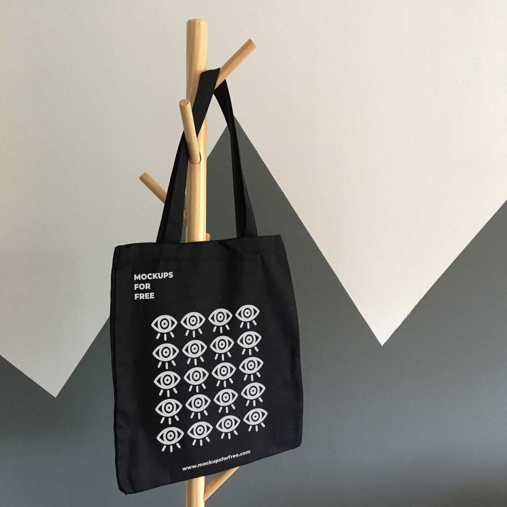 8132+ Mockup Bag Black Amazing PSD Mockups File