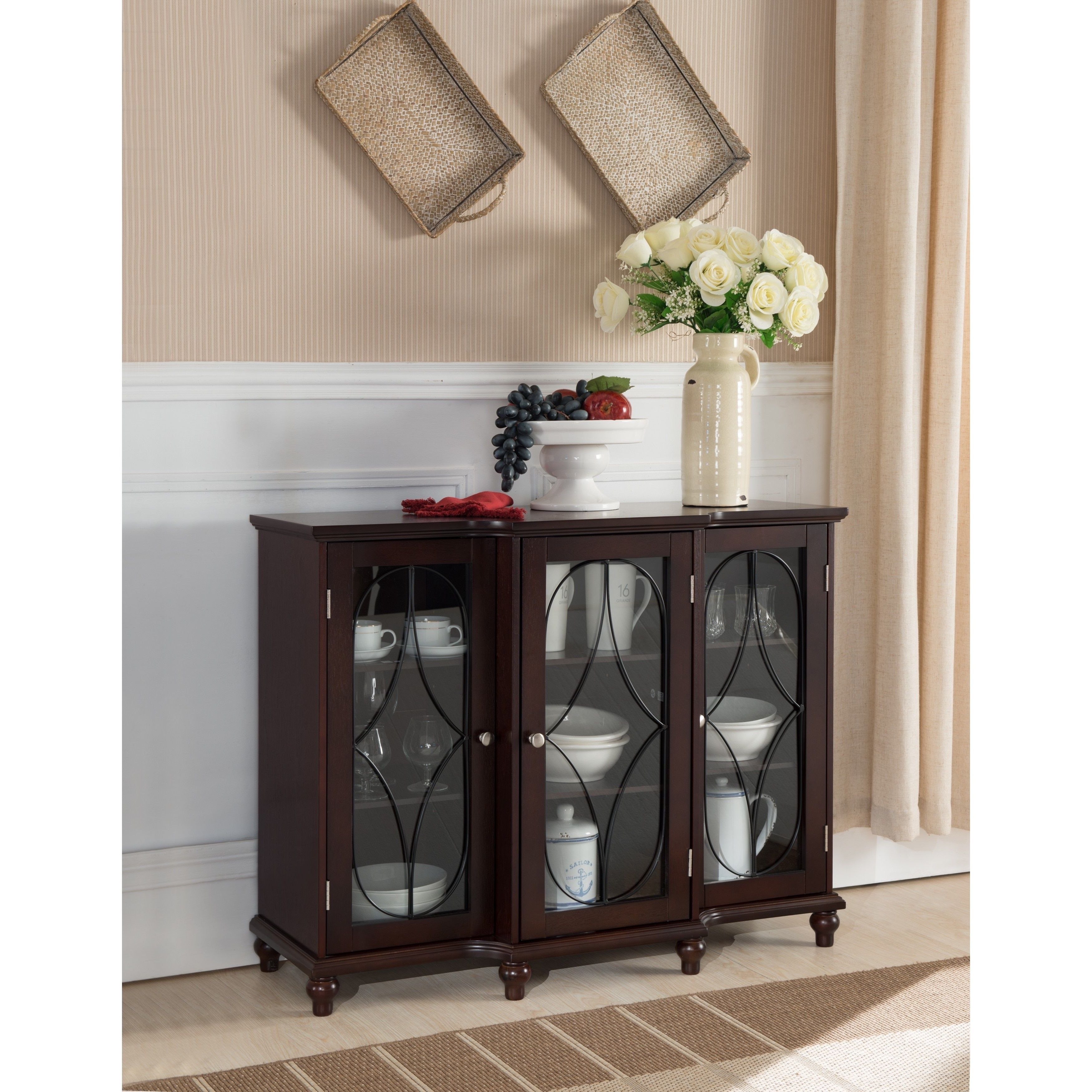 Pin On Home Ideas Console table with glass doors