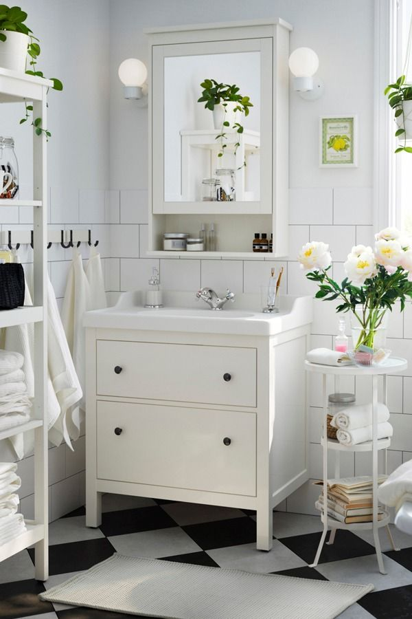 Give Your Bathroom A Traditional Look And Space For All You Need To Store With The Ikea Hemnes Bathroom Series Easy Bathroom Updates Ikea Finds Ikea Bathroom