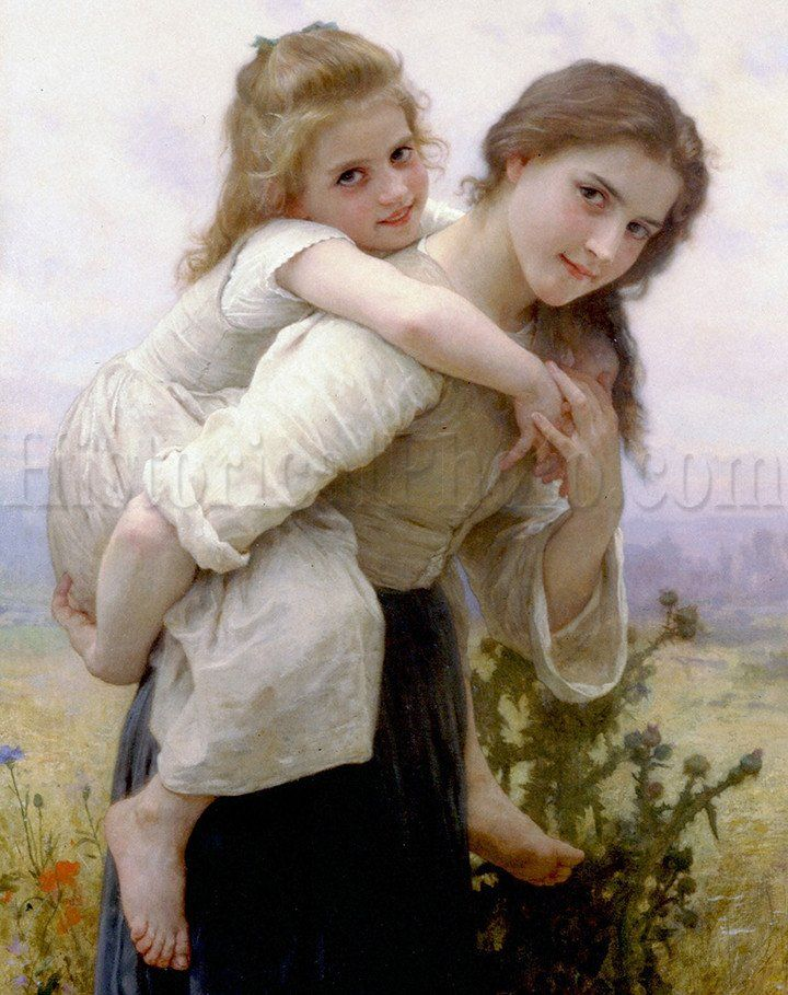 Not Too Much To Carry William Adolphe Bouguereau Art Art