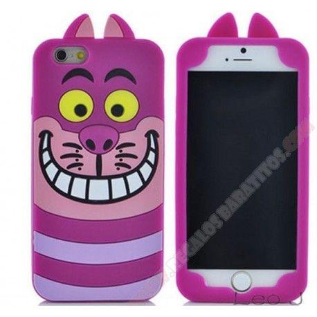 48d8423a717 Carcasa 3D Divertida silicona diseño gato sonriente para iphone 6/6S ...