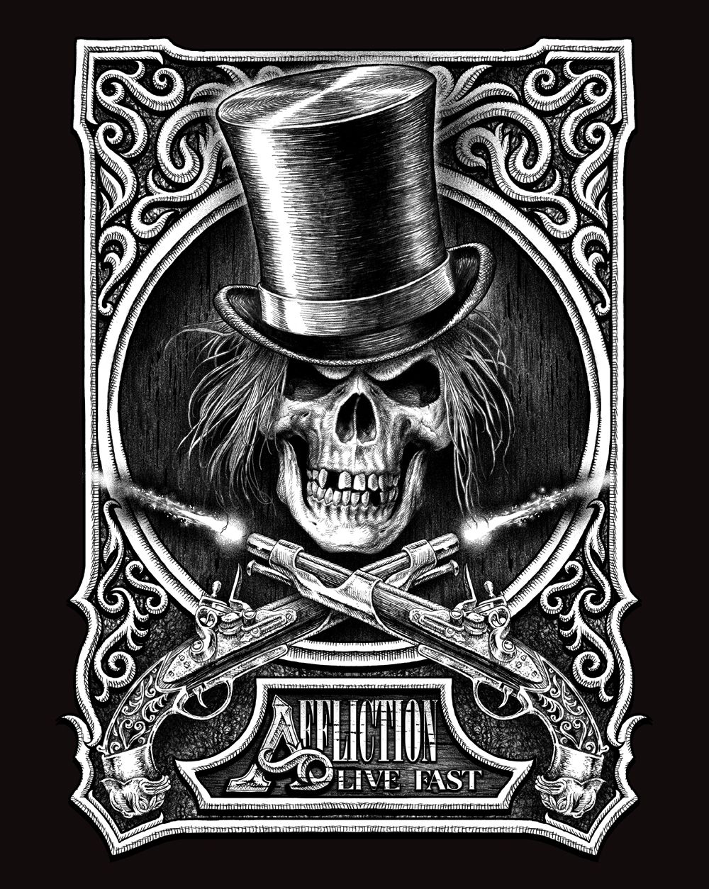 resultado de imagem para affliction t shirts skulls pinterest chicano skeleton anatomy. Black Bedroom Furniture Sets. Home Design Ideas