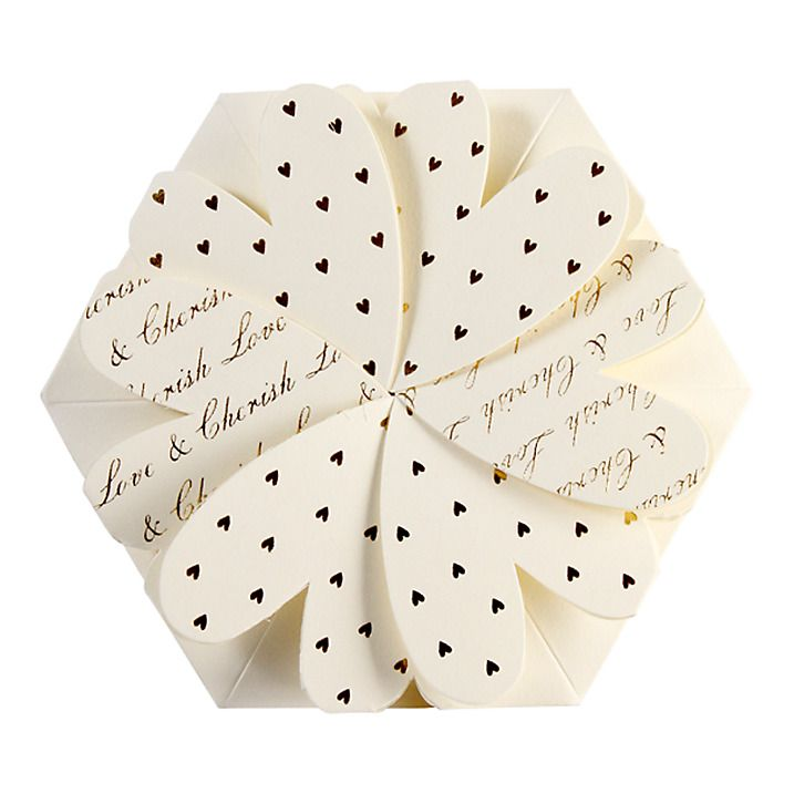 CCA Lotus Flower Personalised Wedding Invitations, Pack of 60, White ...