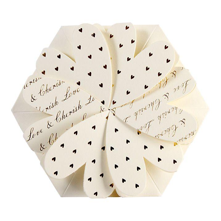CCA Lotus Flower Personalised Wedding Invitations, Pack of 60 ...