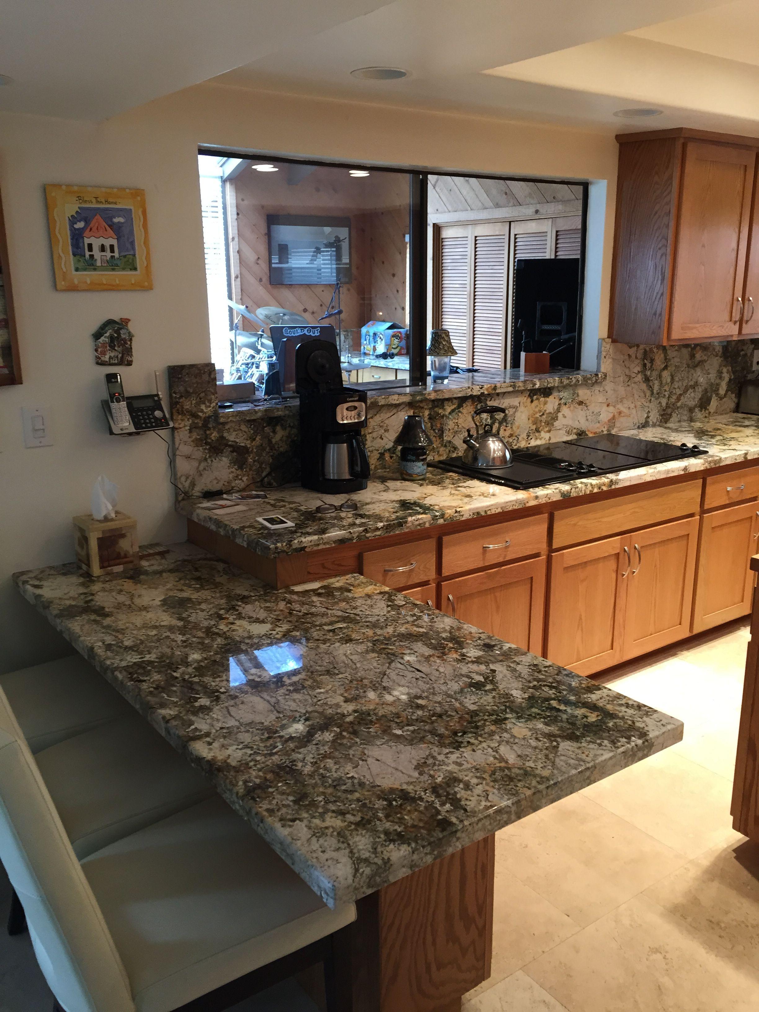 Barricato granite counter top and full backsplash (With ... on Best Backsplash For Granite Countertops  id=87557