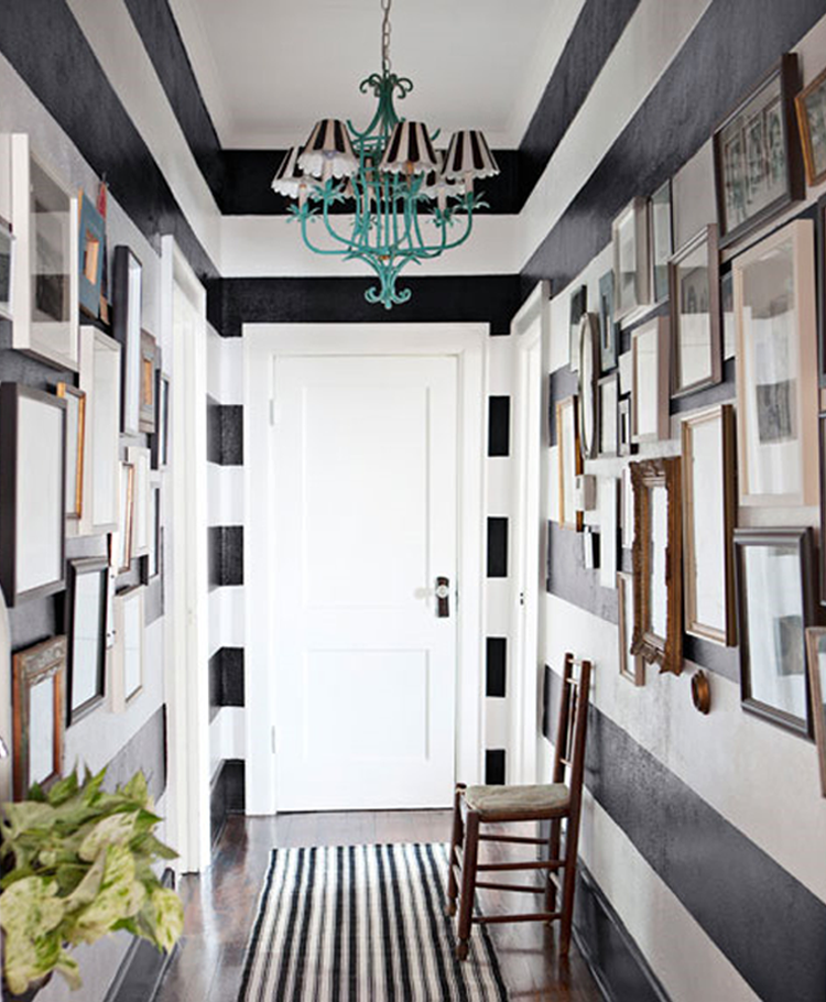 black and white, decor, decorate, entrance, entrance hall, entry, entryway, entry way, foyer, front hall, front door, hall, hallway, home, hallway, interior design, #interiors, mudroom, mud room, stairwell, staircase, stair hall, stair runner, stairs, stripe, stripes