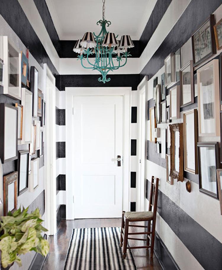 Black And White Decor Decorate Entrance Entrance Hall