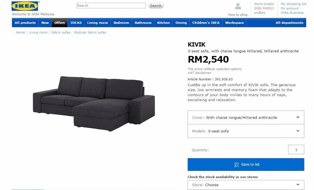 Pin By Leoch On Ikea Furniture Ikea Family Fabric Sofa Ikea Malaysia