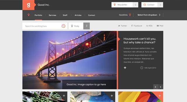 Good Inc Website Template Free PSD | Free PSDs For Web Designers ...