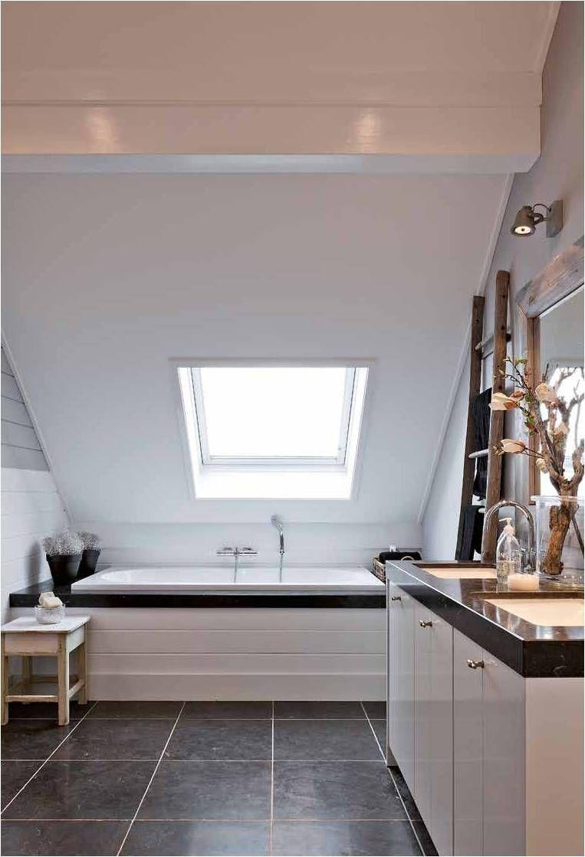 Baignoire Sous Les Combles belgian interior /martine haddouche/ | salle de bains sous