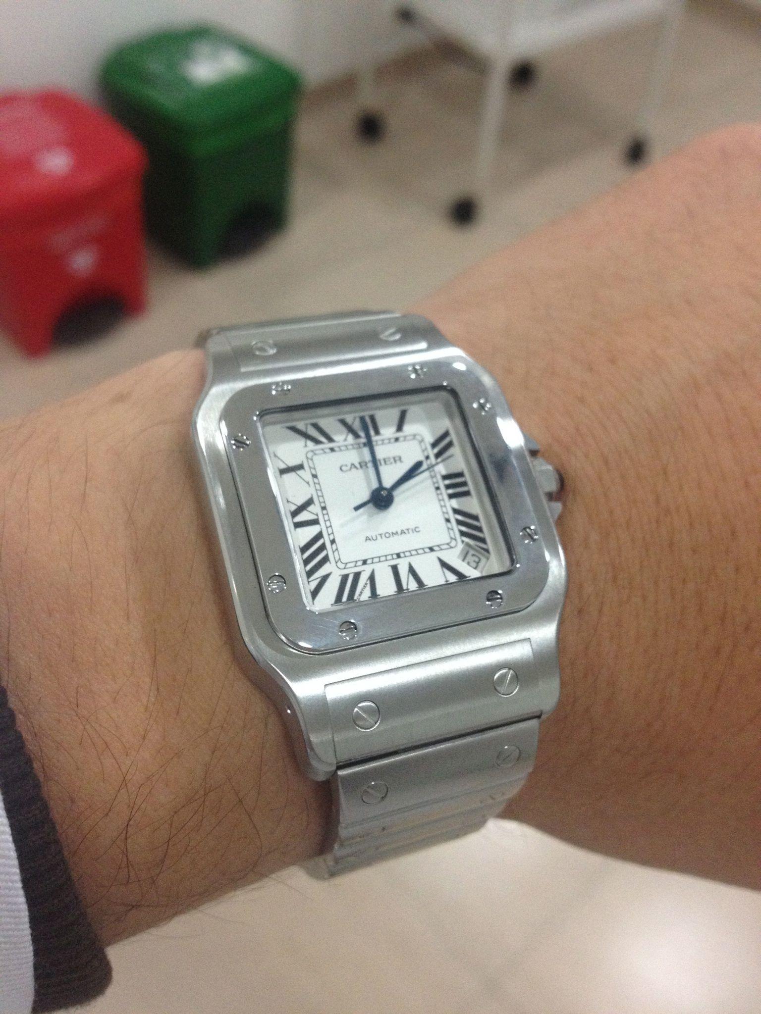 Mi colección.  Cartier Santos Galbee XL Steel Mens Watch W20098D6. U ... bbfecaa46eac5