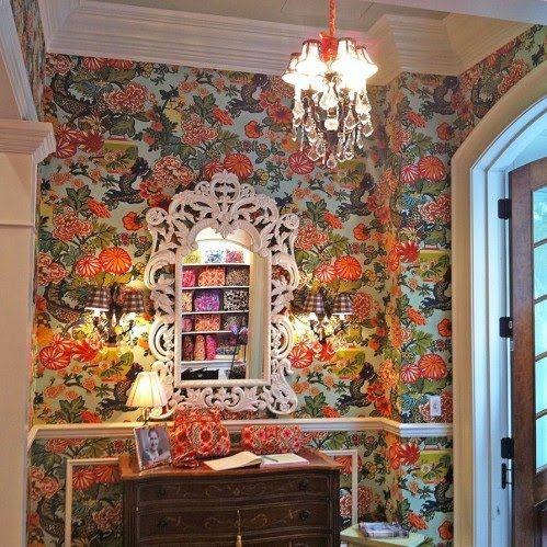 Sweet Carolina Wife Foyer Done In Schumacher Chiang Mai Dragon