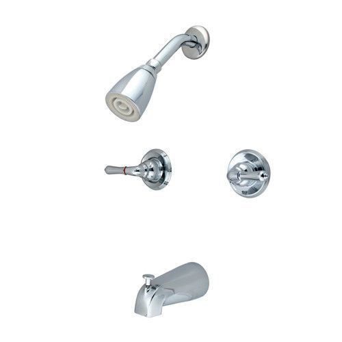 Diverter Tub And Shower Faucet With Modern Lever Handles With