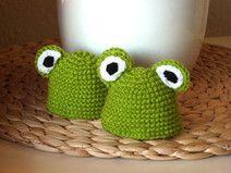 Frosch Eierwärmer 2er Set Häkeln Pinterest Eierwärmer