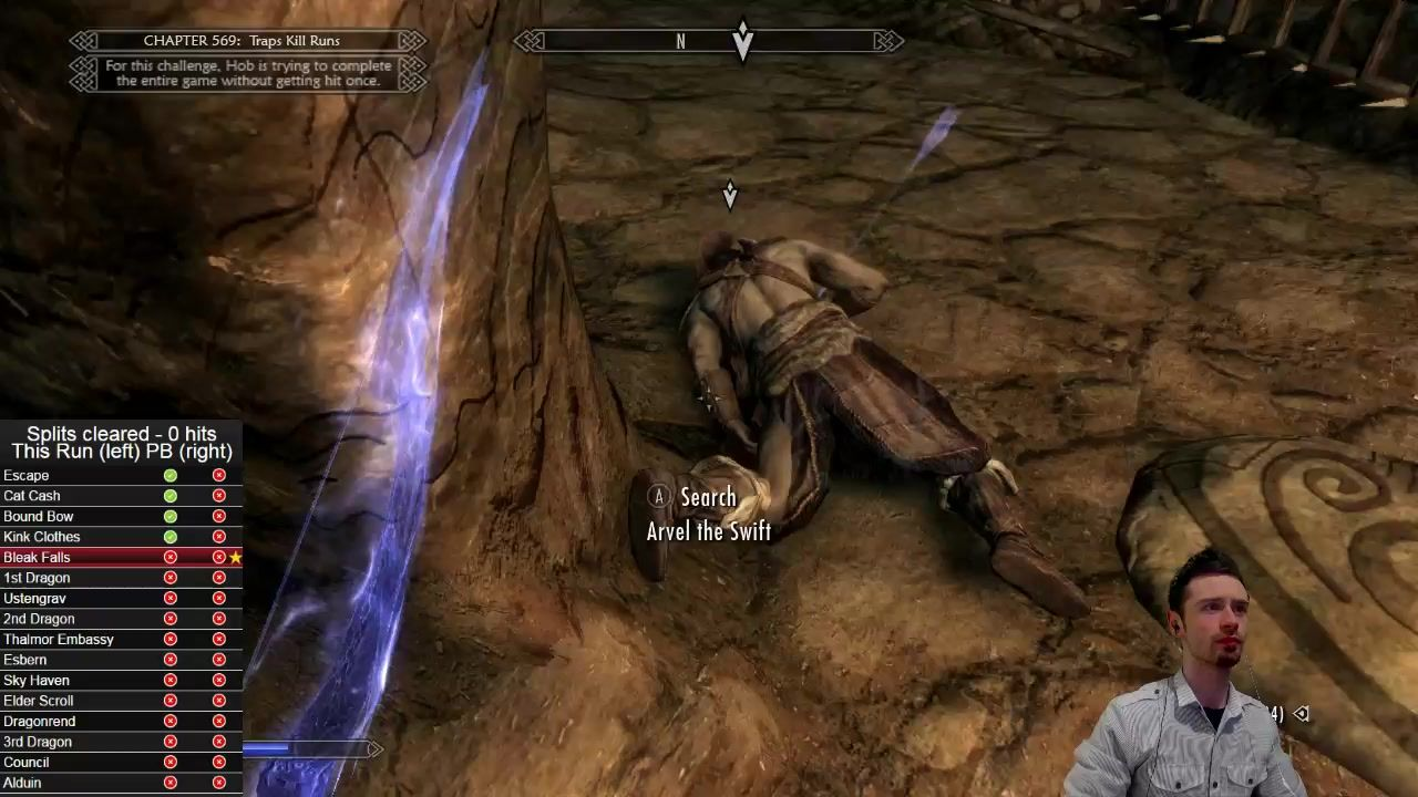 A novel way to end a no-hit skyrim run #games #Skyrim