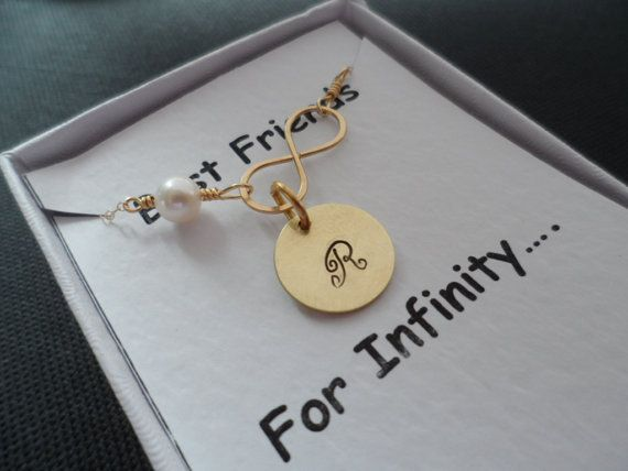 Personalized Initial and Infinity Necklace  by weddingbellsdesigns, $30.99