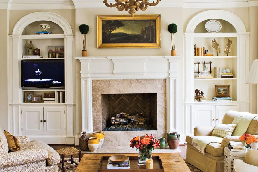 40 Cozy Ideas For Fireplace Mantels Living Room With