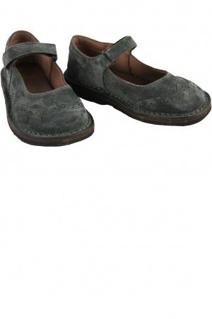 PePe Grey Suede Velcro Mary Janes