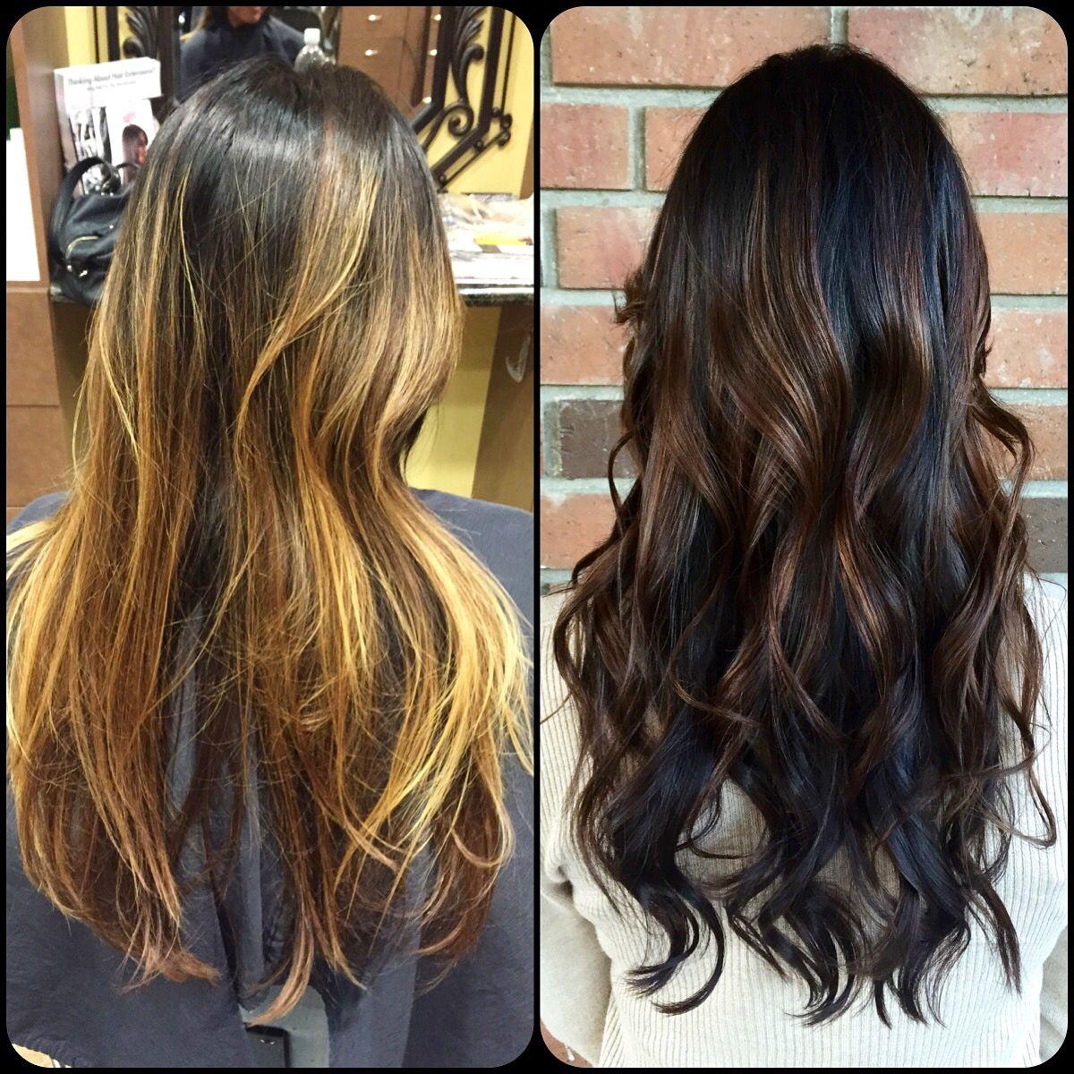 Dark Rich Brunette Color Melt Sarahgossetthair Hair By Sarah In