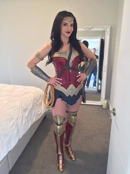3a6b850bf49 Wonder Woman Inspired Accessories - Tiara, Bracers, Arm Band & Leg ...