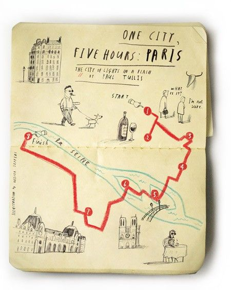 hand drawn maps moleskin include specific cues and instructions on every other page or so