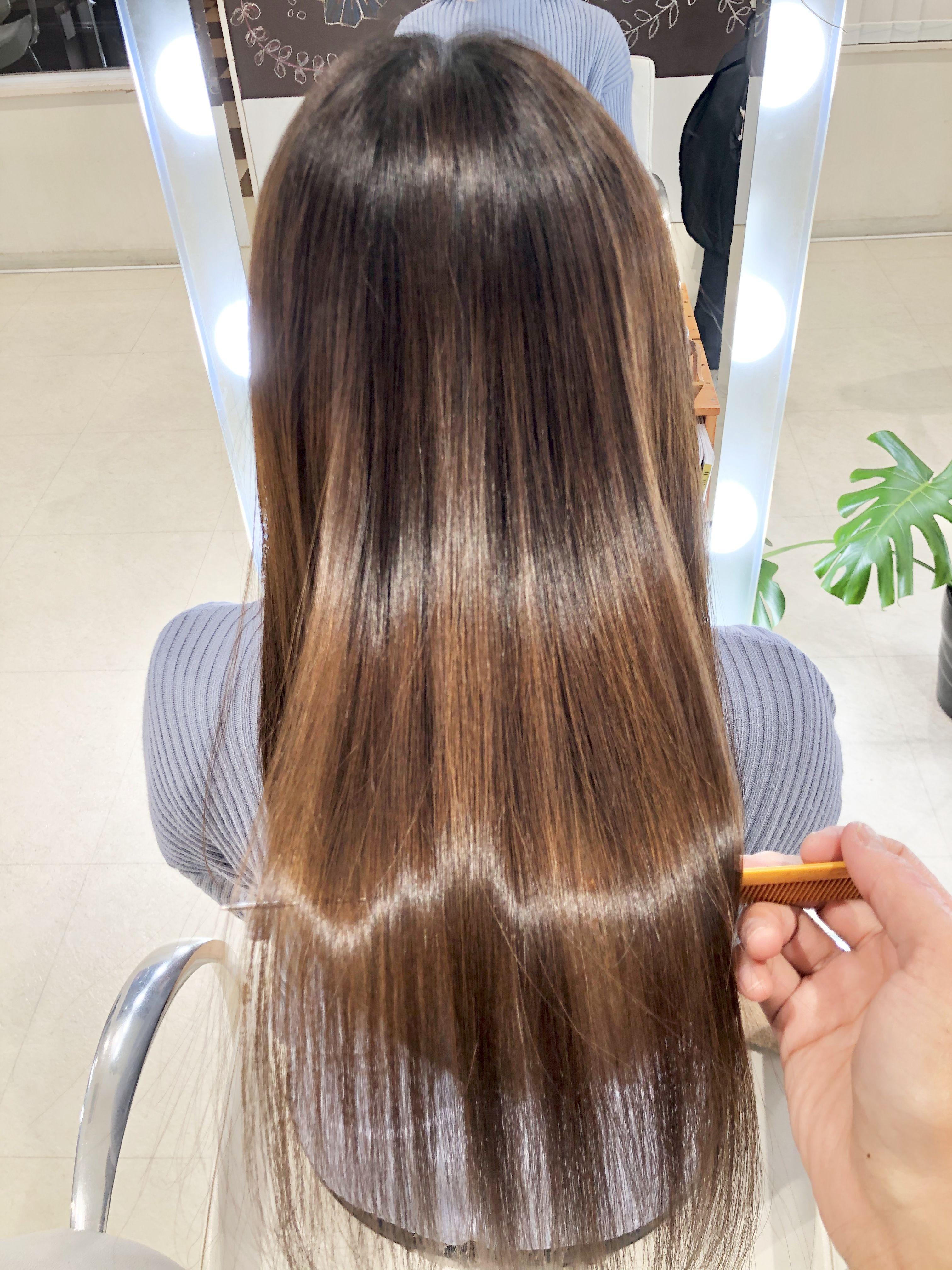 うる艶髪になれる質感調整 乾燥 静電気対策に 一宮 美容師 撮影
