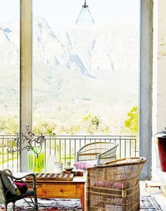 Living room in a home in South Africa with a view  http://www.recovetd.com | RECOVETD #summer #vibes #currentlycoveting