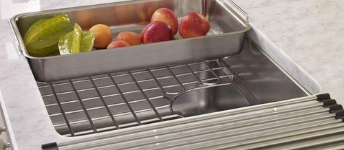 Multipurpose Sink Colander, Shelf Grid And Roller Mat