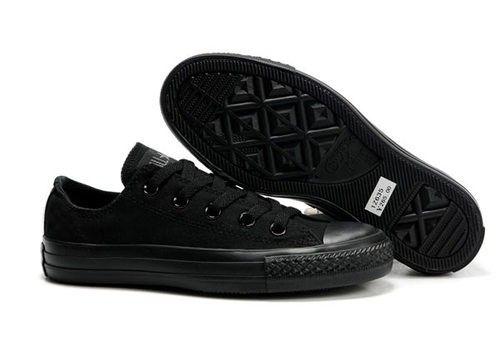 solid black converse shoes