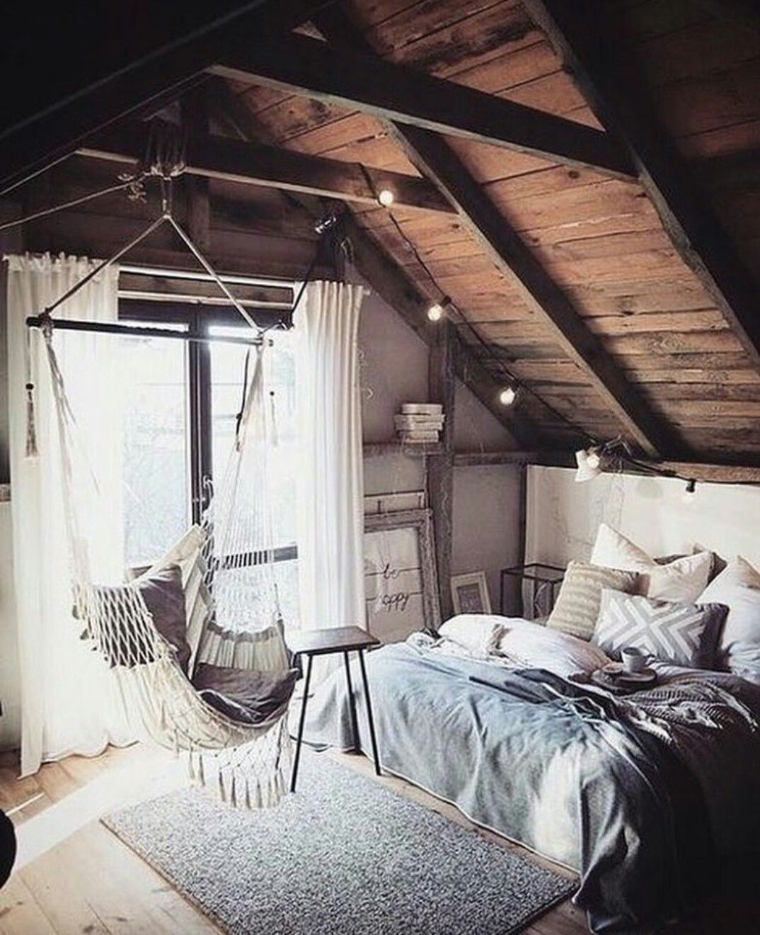 Hanging loft bed ideas  Pin by Maddie Kremer on home  Pinterest  Bedrooms Room and Room ideas