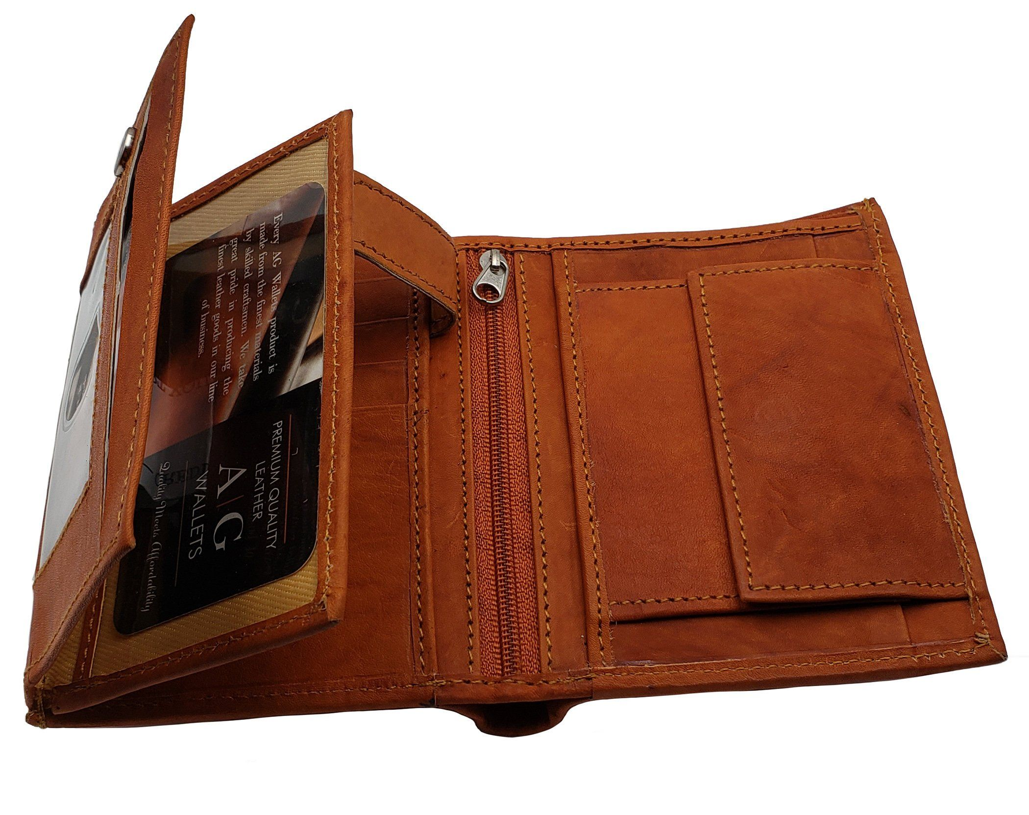 Men/'s Hipster Bifold Genuine Leather Multi-Card ID Holder European Wallet New