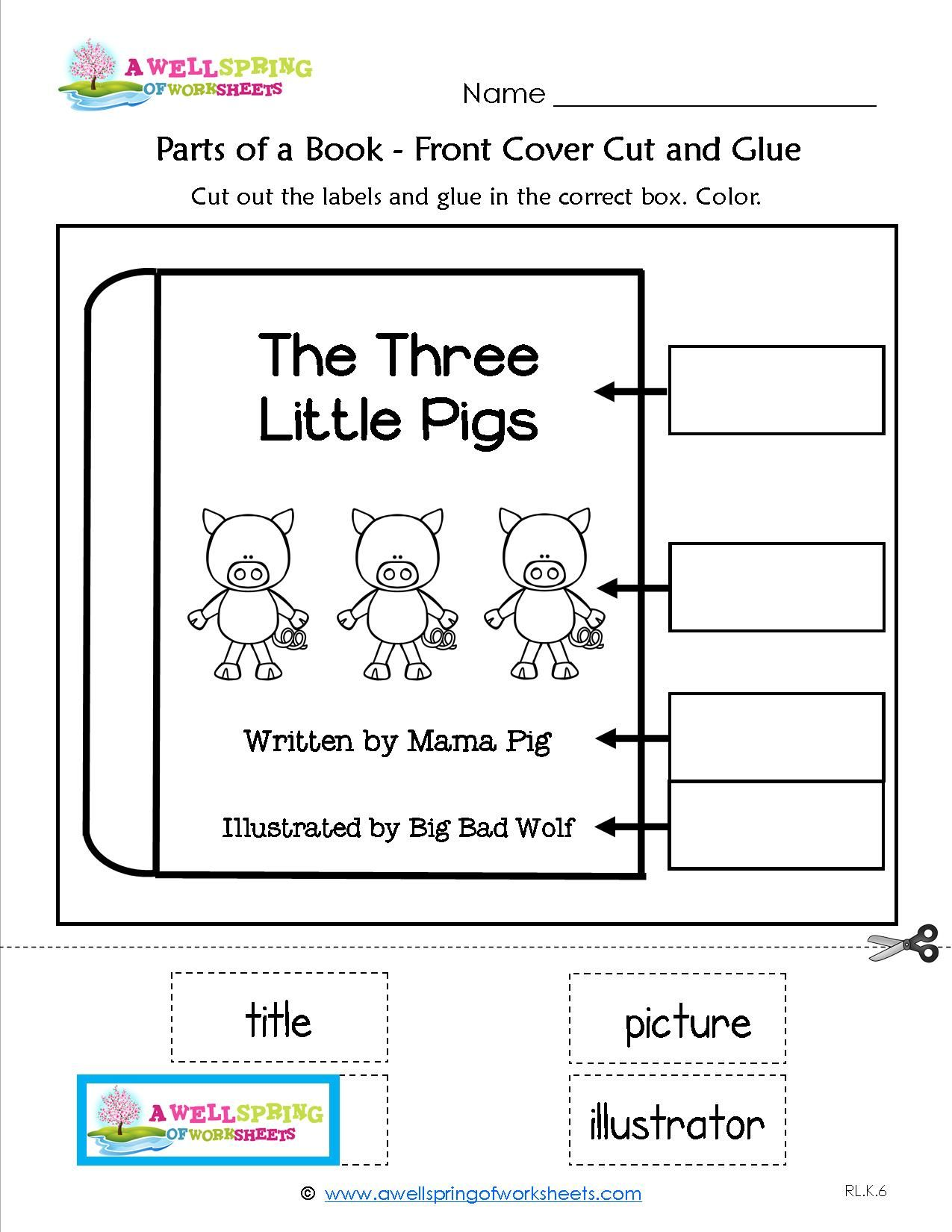 Parts of a Book Heres a great worksheet that reinforces the – The Language of Science Worksheet