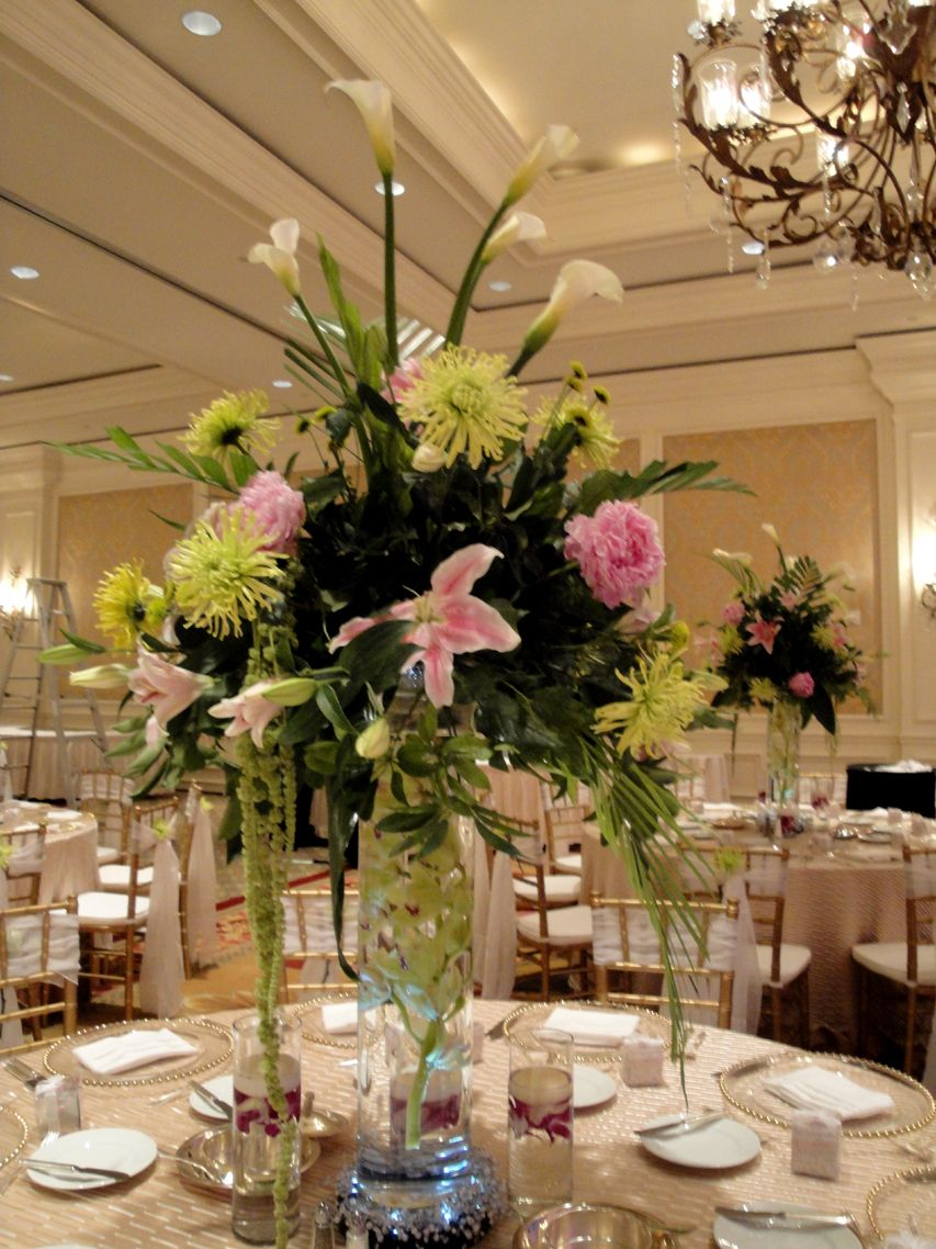 Tall Flower Arrangements For Weddings Wedding Reception