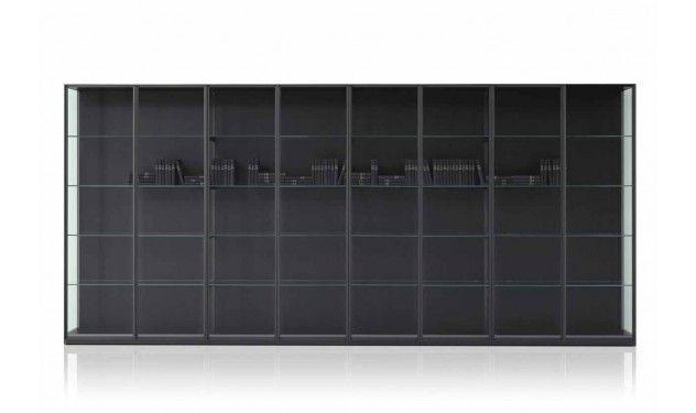 Badkamerkast Met Lamp : Porro ex libris design kast design: pierro lissoni frame van metaal