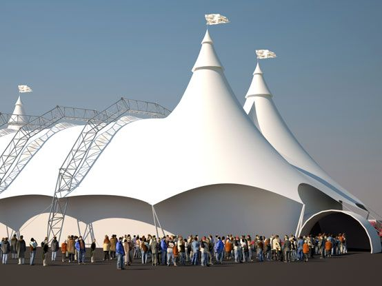 Event Tent Tensioned Structure Inflatable Building