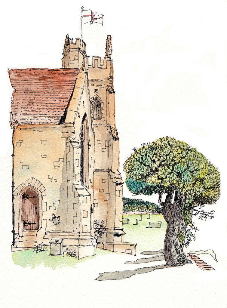 Chris lee watercolor sketch watercolor pen ink for Chris lee architect