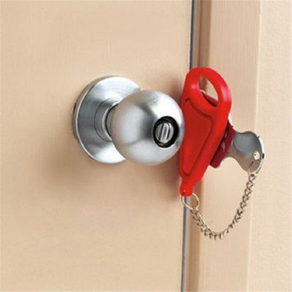 Portable Door Lock In 2020 Door Locks Door Stopper Pocket Door Latch