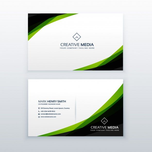 Download Green And Black Business Card Template For Free In 2020 Simple Business Cards Business Card Template Design Visiting Card Templates