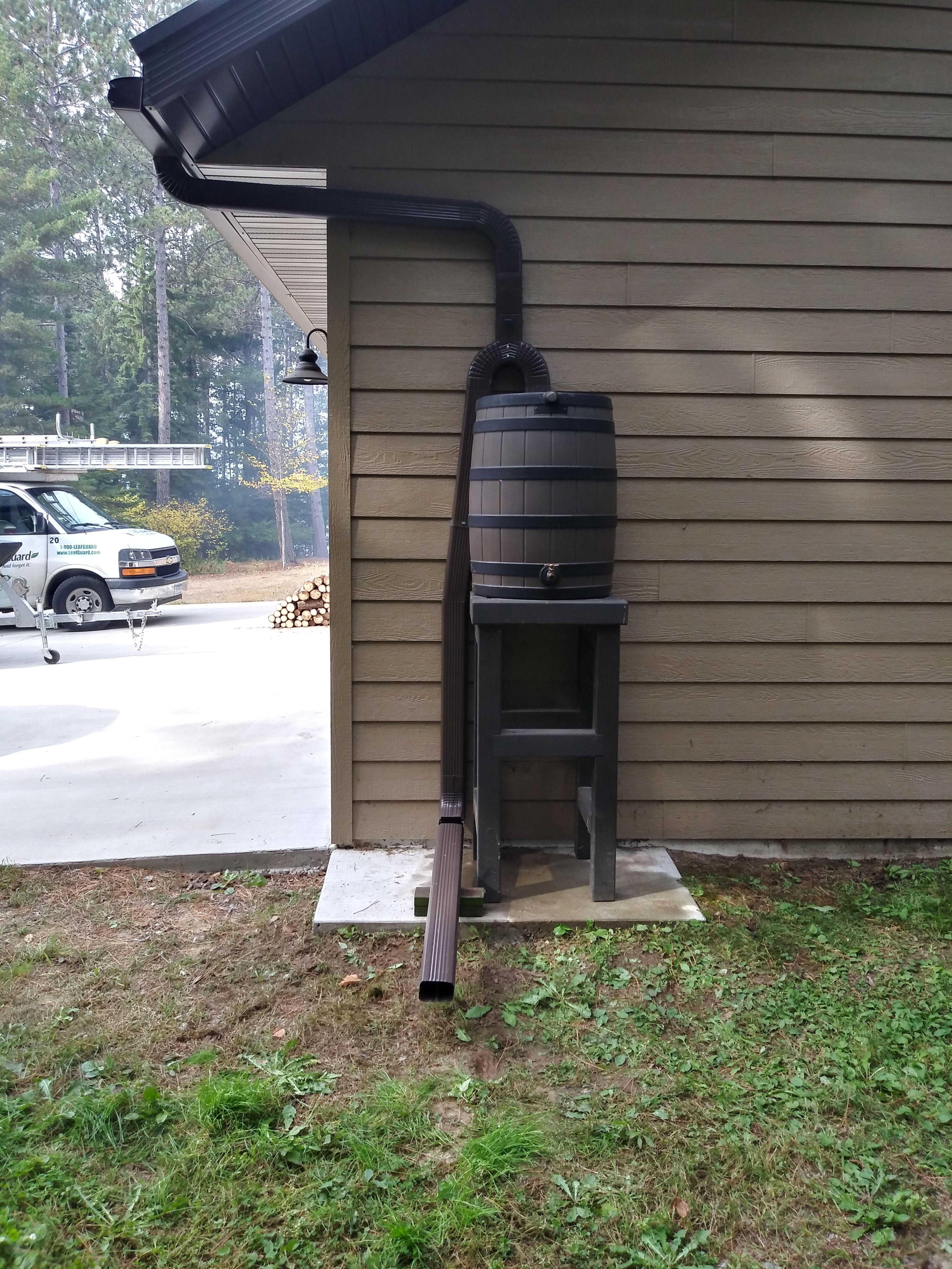 Custom Rain Barrel Rain Barrel Gutters Downspout
