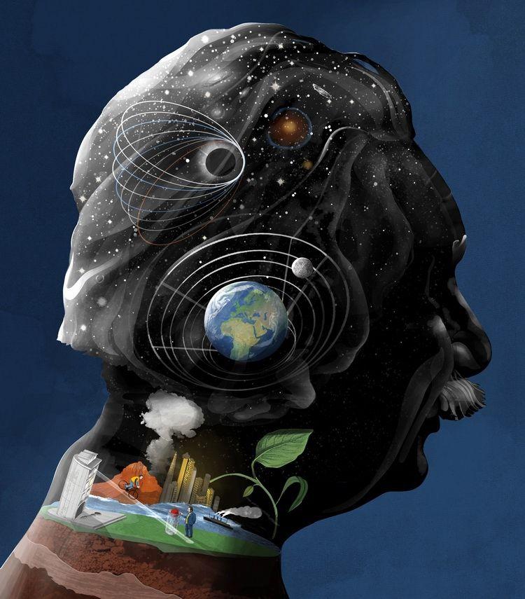 插畫家 Sam Falconer 為你剖析科學巨星們的大腦 Scientific Greats » ㄇㄞˋ點子