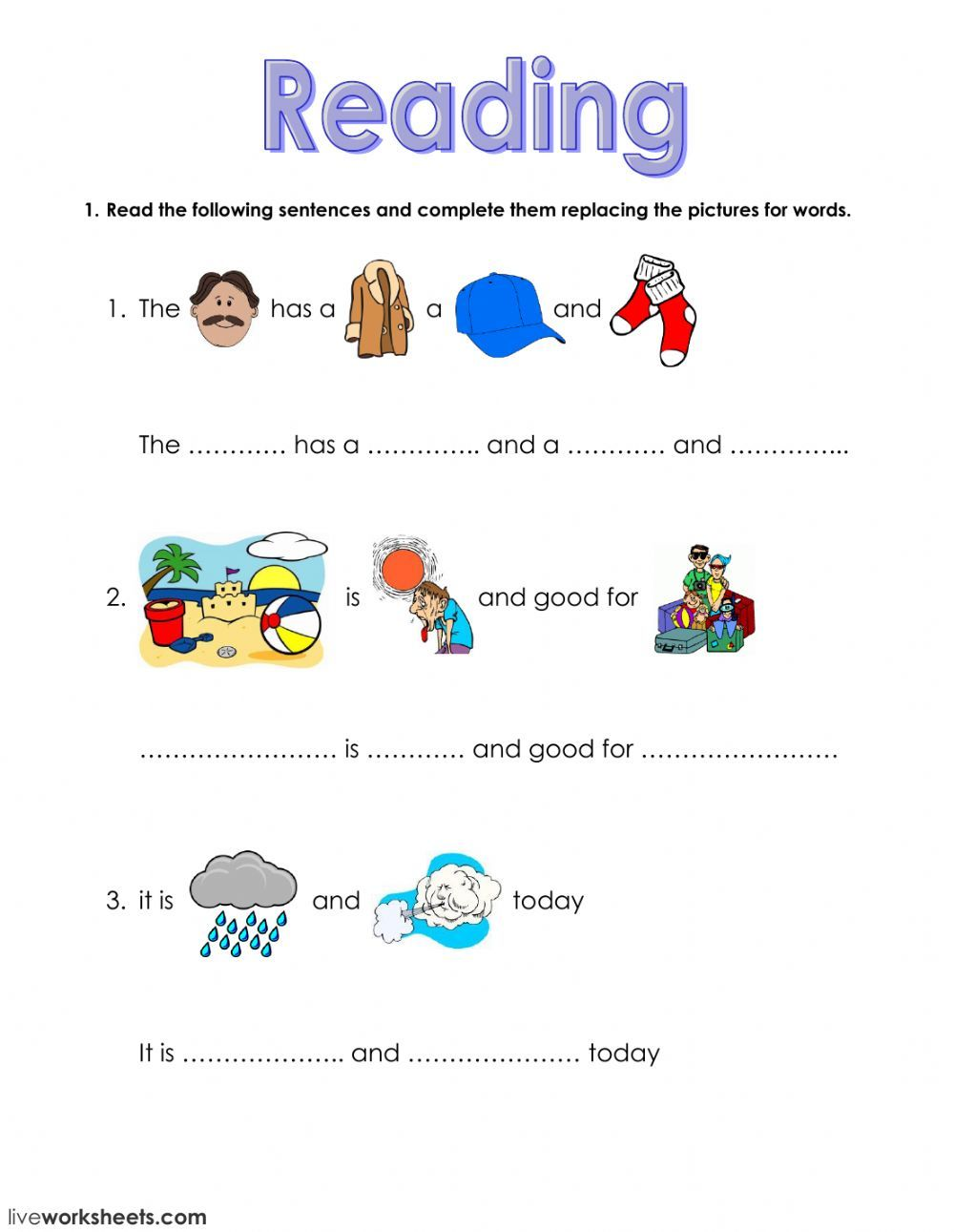 The Clothes Interactive And Downloadable Worksheet You Can Do The 1st Grade Reading Worksheets 2nd Grade Reading Worksheets Reading Comprehension Kindergarten Online worksheets for grade english