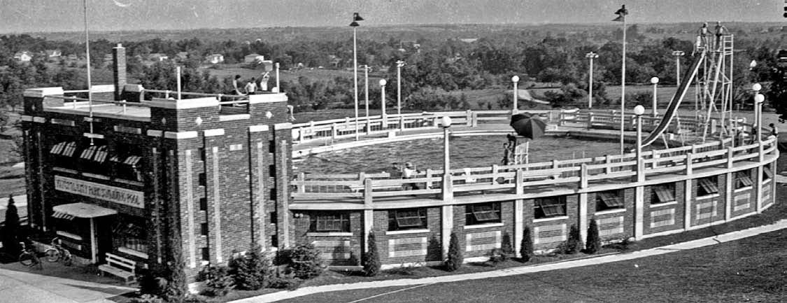The Classic Wpa Built Swimming Pool In Nearby Fayette 39 Greater Boonville 39 The Water Slide Of