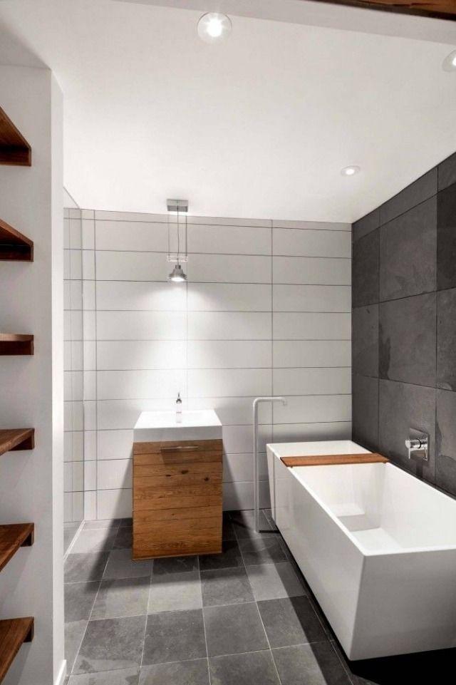 badezimmer bilder ideen f r einrichtung naturmaterialien als kontrapunkt f r puristische. Black Bedroom Furniture Sets. Home Design Ideas