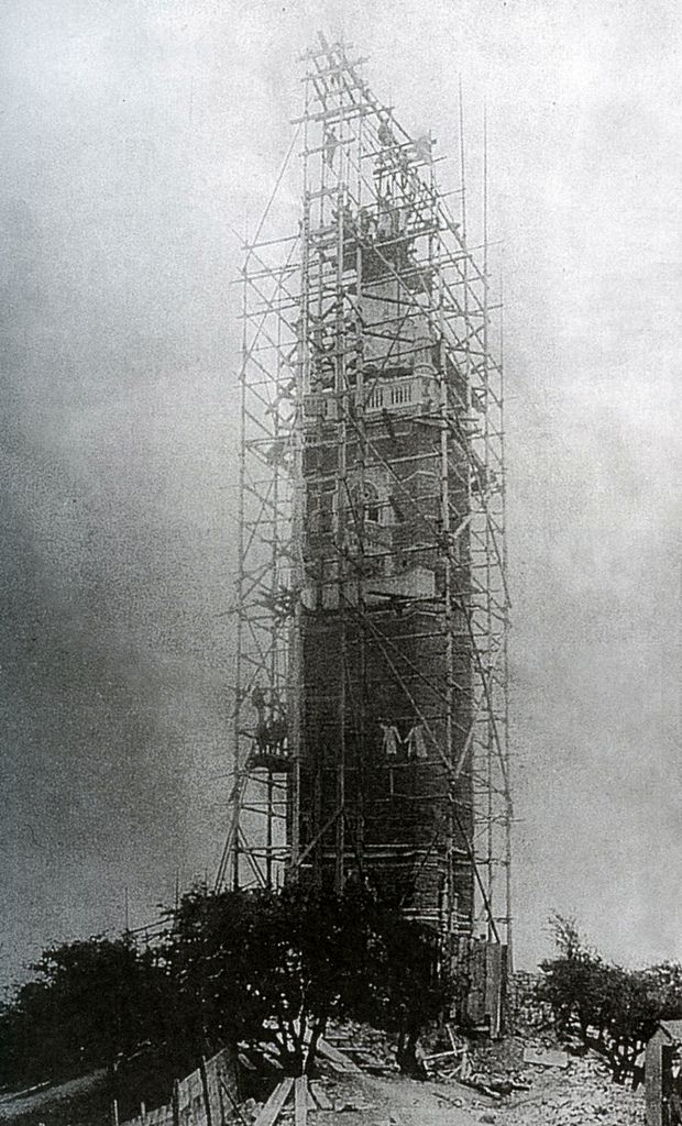 Bristol's Cabot Tower nearing com­pletion in 1898