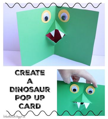 Kitchen Floor Crafts Create A Dinosaur Pop Up Card Pop Out Cards Kids Birthday Cards Cards