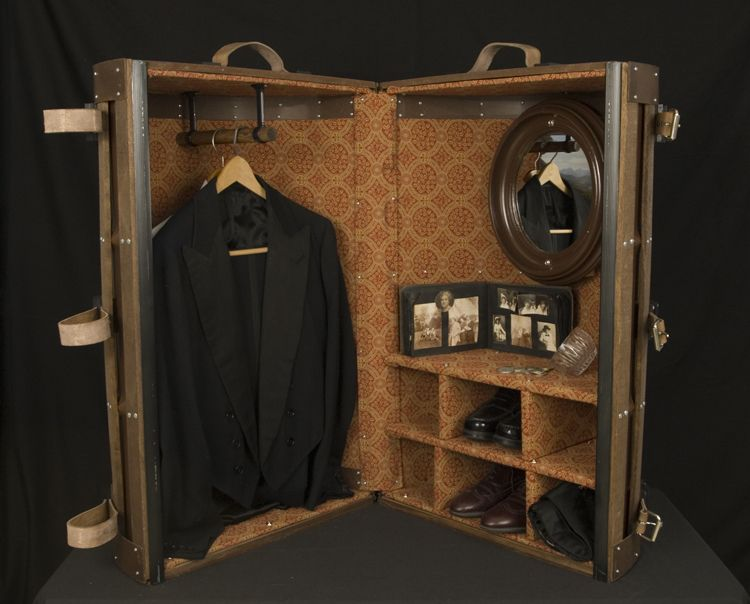 9258b744def7 Wardrobe Steamer Trunk - would like to try to convert the 3 I have ...