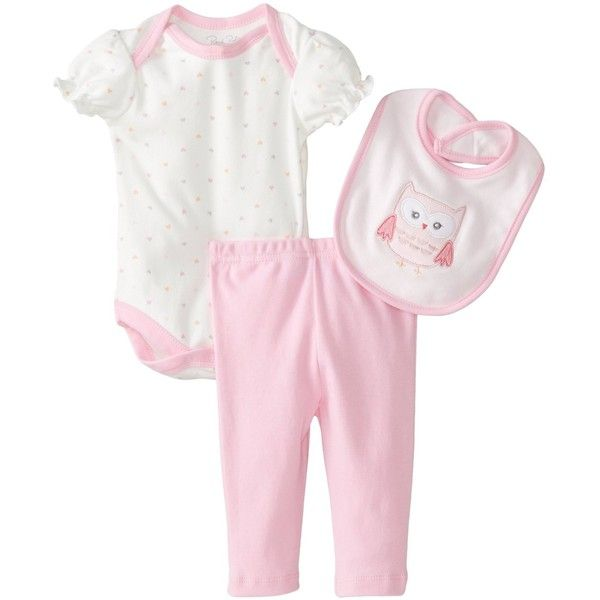 Rene Rofe Baby Baby-Girls Newborn Owl 3 Piece Pant Set with Bodysuit... ($8.95) ❤ liked on Polyvore featuring baby, baby stuff and kids clothes