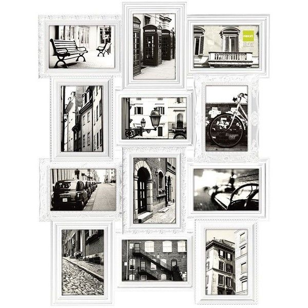 Nexxt Revet 12 Opening Collage Frame 72 Liked On Polyvore Featuring Home Home Decor Frames Whi Collage Frames Framed Photo Collage Picture Collage Wall