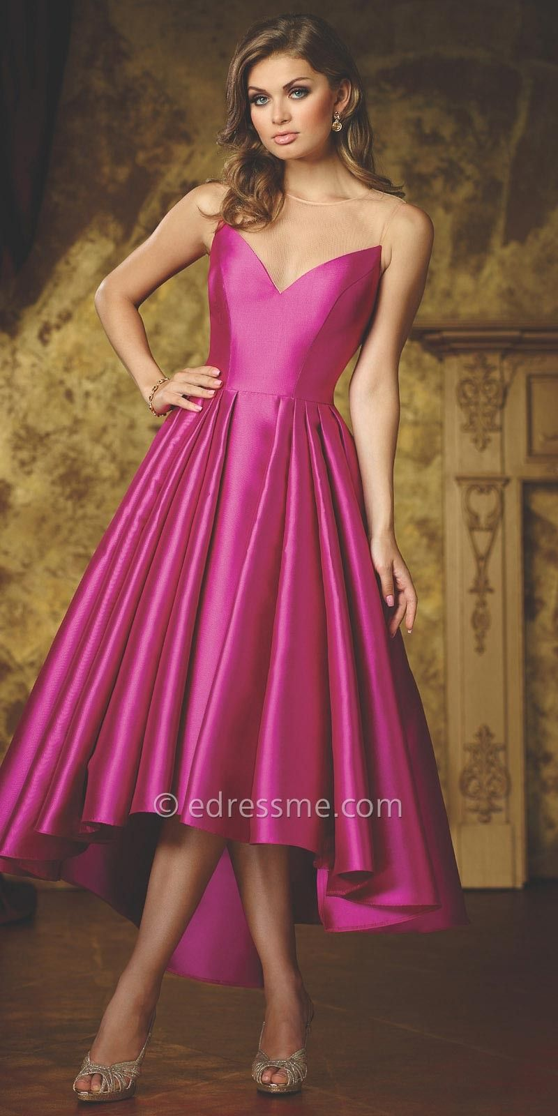 Natasha High Low Cocktail Dress by Celebrity by David Tutera | Moda ...