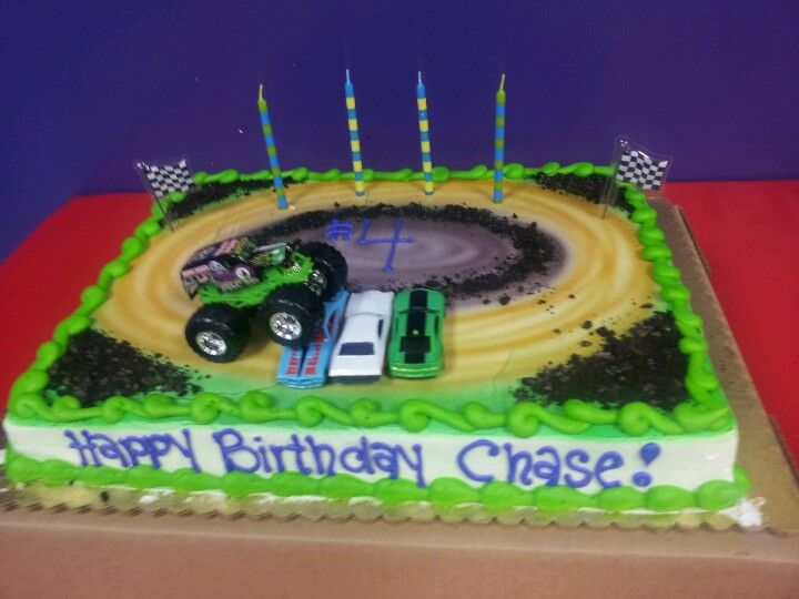 Monster Truck Birthday Cake 4 Year Old